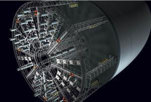 KurzweilAIより。ロボットによって建設される宇宙コロニーの構造体(credit:  A. Nesterova and J. Strickland)