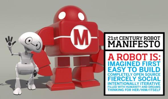 オープンソースで作られるロボットの「ジミー」(左)(http://robots21.com/より)