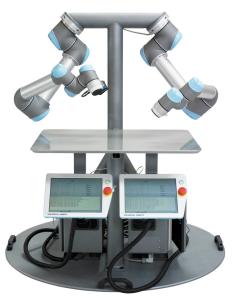 ユニバーサル・ロボット社の製品のひとつUR5 Double