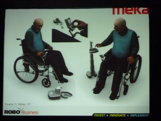 コー・インハビタントの例。モノを取ってくれるロボット。メカ・ロボティクス社(Meka Robotics)のアイデア。