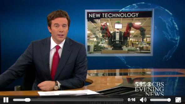 10月初頭に放映されたCBSニュース番組ではコーロボットがテーマに