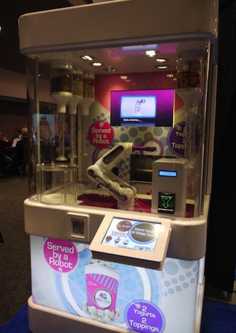 ロボットが作ってくれることを売りにするヨーグルト・ブランド「リース&アーヴィー」
