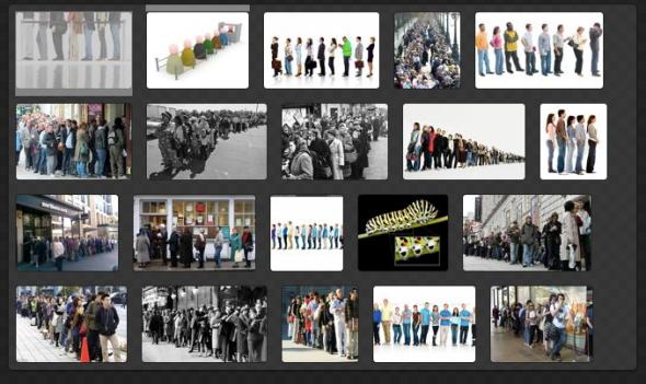 NEILで「行列」という画像の特徴を呼び出したところ(http://www.neil-kb.com/より)