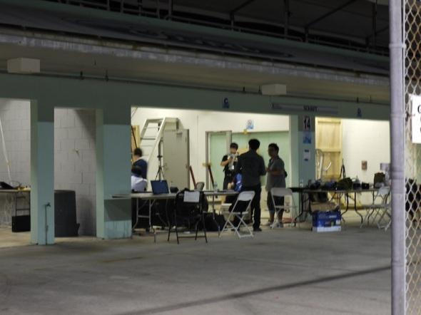 シャフト(日本)のガレージ風景。これ以上の写真はNGでした。