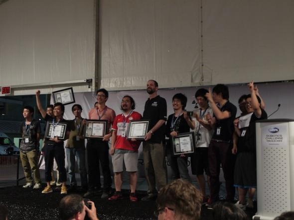 第1位を獲得した日本のシャフト・チーム
