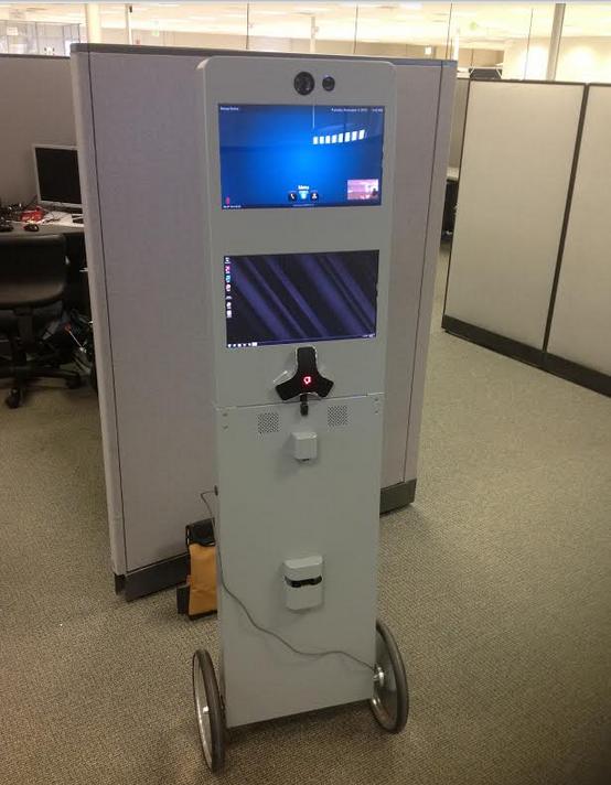 エニーボッツ社のテレプレゼンス・ロボットは板型(http://spectrum.ieee.org/より)