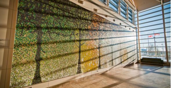 アルテイック社がロボットで製作したパネルを用いたモザイク壁面(http://www.artaic.com/より)