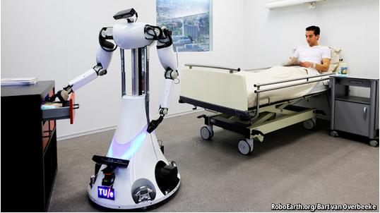 ロボットが介護するようになると、セキュリティーやプライバシーの問題も持ち上がる(http://www.economist.com/より)