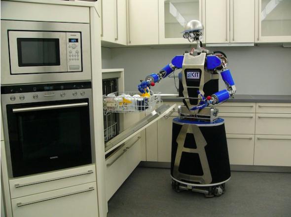 カールスルーエ工科大学の家事ロボット、アルマー(http://spectrum.ieee.org/より)