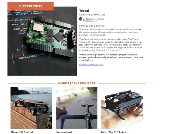 ドラゴン・イノベーション社のクラウド・ファンディンのプロジェクト例