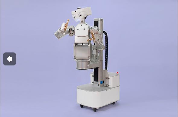 メカ・ロボティクス社のM1可動マニピュレーター。モノを持ち上げて運ぶために設計された。アームはスムーズに動き、コンプライアンスを備えている。