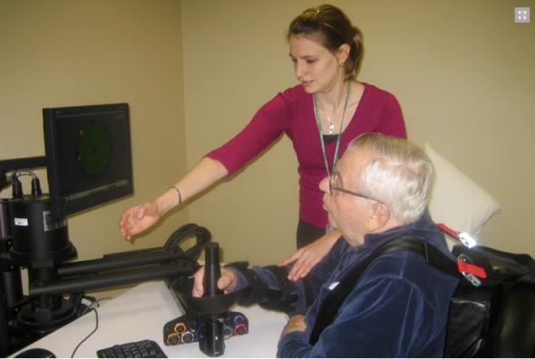 リハビリに使うロボットが新薬の効果を計測するのにも利用できる(http://web.mit.edu/より)