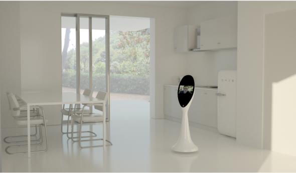 ホーム・オートメーションのコントロールパネルでもあり、テレプレゼンス・ロボットでもあるアダム(http://www.handscompany.it/より)