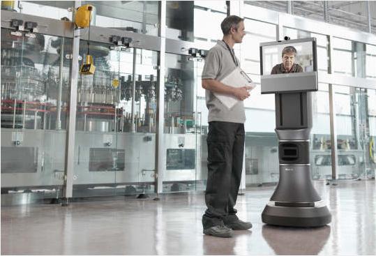 テレプレゼンス・ロボットとしてはハイエンドなAva 500(http://www.irobot.com/より)