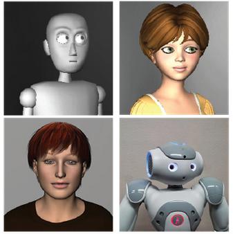 ロボットやバーチャル・エージェントでは、視線の動きが相手を自然なきもちにさせる(http://hci.cs.wisc.edu/projects/gaze/より)