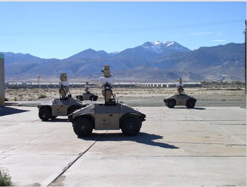 ジェネラル・ダイナミックス・ロボティク・システムズ社のMDARSは、リアルタイムで障害物を回避、360度センサーも搭載(http://www.gdrs.com/より)