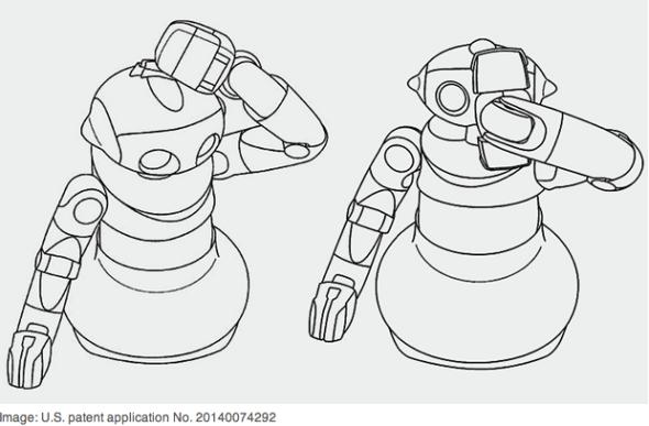 2本のアームを持つソニーのロボットは、家事、介護用? (http://spectrum.ieee.org/より)