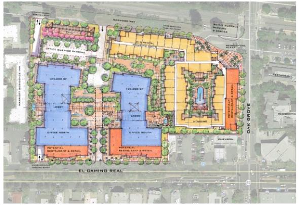 スコット・ハッサンが開発中というスタートアップ村の計画平面図(http://www.paloaltoonline.com/より)