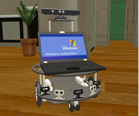 マイクロソフトのモバイル・ロボットのシミュレーション(http://spectrum.ieee.org/より)