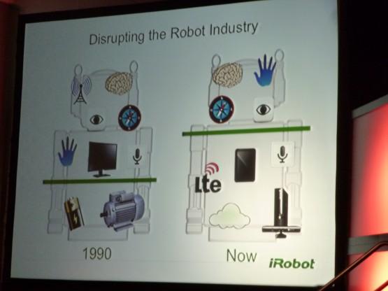 アングル氏のスライドから。現在のロボットには、いろいろなところから使える技術がある。