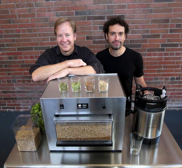 ビール・ロボットのザイマティックと、ピコブリューの創業者たち(www.seattletimes.comより)
