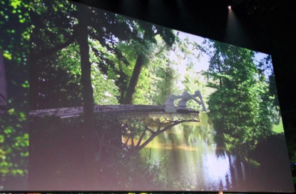 オートディスク社がジョーリス・ラーマン氏と構想している橋をロボットが3Dプリントアウトするというイメージ